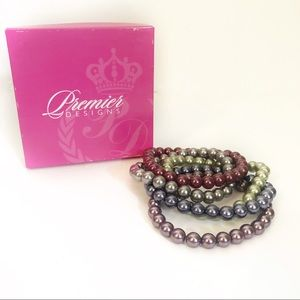 Premier Pearl Soirée Stacked Beaded Bracelets
